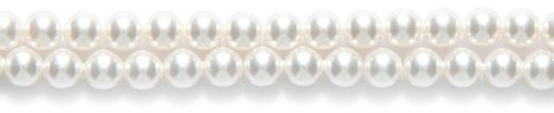- SWAROVSKI ELEMENTS Swarovski 5810 Crystal Round Pearl Beads, 4-mm, White