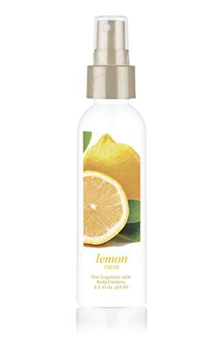 Lemon Fresh Perfume 'Happiness in a Bottle' Body Exotics Fine Fragrance Mist 3.5 Fl Oz 103 Ml ~ a Fresh Burst of lemony Goodness! Made with Italian Lemon Oil