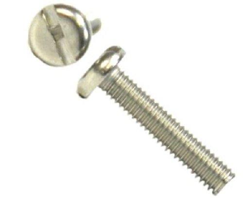 Tornillos de má quina/tornillos A2 ranura cabeza acero inoxidable bacinilla tornillo M5 5 mm x 100 mm (4 unidades) AHC 5053440583249