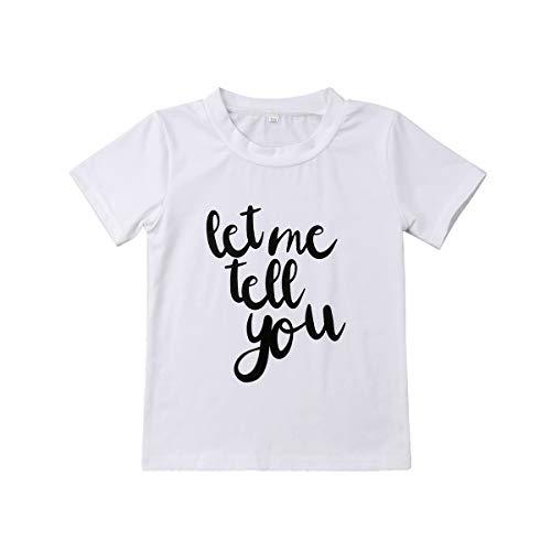 (Meipitgy Newborn Infant Baby Boy Girls Short Sleeve Letter Printed Bodysuit Romper Jumpsuit Clothes, White Infant Bodysuit (3-4 Y, for Big Brother))