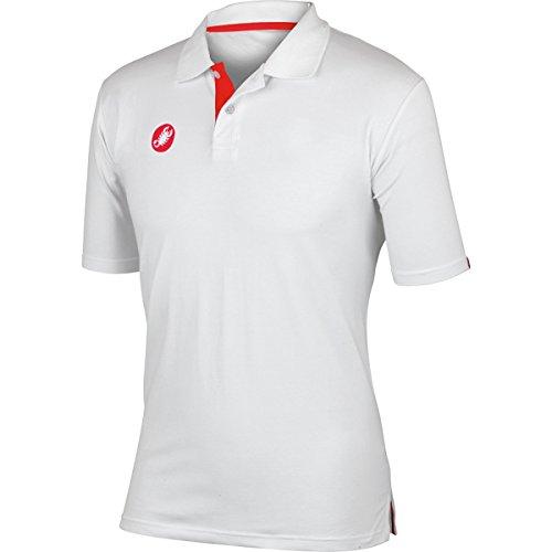 Castelli Race Day Polo Shirt - Men's White, XS