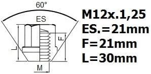 /2013 M12/x 1.25 Heyner Dadi antifurto per ruote di NISSAN QASHQAI 2006/