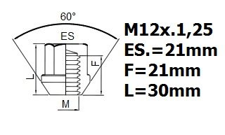 NISSAN NAVARA LOCKING WHEEL NUTS M12x1.25 all models ANTI-THEFT PROTECTION