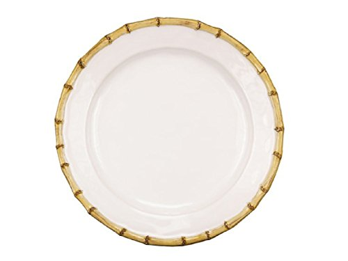 Classic Bamboo Natural Dinner Plates, Set of 4