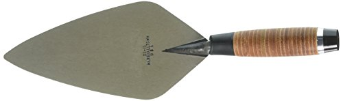 MARSHALLTOWN The Premier Line 10326 10-Inch Narrow London Brick Trowel with Leather Handle