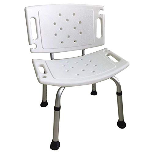 Lightweight bath anti-skid independent flow assist Aluminum Shower Chair With Backrest, Shower Chair For The Elderly, Anti-skid Pattern Pregnant Women Shower seat Suitable for the elderly, pregnant wo ()