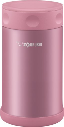 Zojirushi Stainless Steel Food Jar 25 oz. / 0.75 Liter, Shiny Pink (Jar Stainless Food)