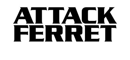 Attack Ferret - Funny Cute - Vinyl Decal Sticker, Die cut vinyl decal for windows, cars, trucks, tool boxes, laptops, MacBook - virtually any hard, smooth surface