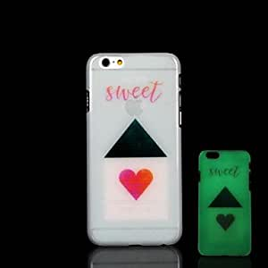 LCJ iPhone 6 Plus compatible Novelty/Graphic/Glow in the Dark Back Cover