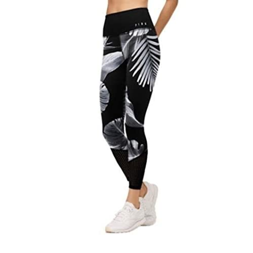 1b80fe3af5bb8 Victoria's secret Pink New Tropical Palm Ultimate High Waist Ankle Legging  Black (Small)