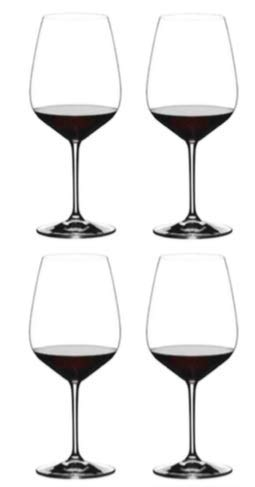 Riedel Exclusive Vinum Extreme Set of 4 Wine Glasses, Red Wine, Ideal For Cabernet, Bourdeaux by Riedel