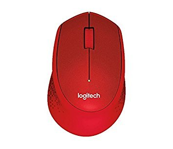 Logitech M331 SILENT PLUS Wireless Mouse with Nano Receiver Red Color -International Version- by Logitech