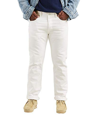 Levi's Men's 501 Original Fit Jean,Optic White,42×32