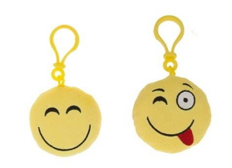 Icons - Pack 2 llaveros 8cm Emoticonos - Amarillo cara smile ...