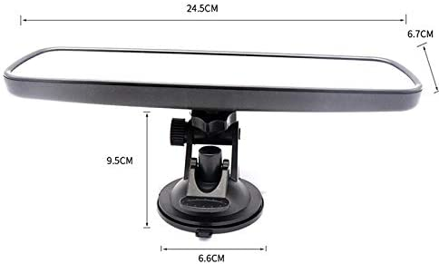 Atrumly Universal Black Car Truck Mirror Interior Rear View Mirror with Suction Cup Rearview Mirror