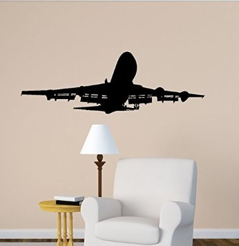 Ordinaire Jet Airplane Boeing 747 Wall Decal Home Office Aviation Room Decor (20 X 60  Inches