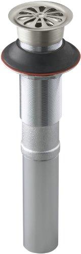 KOHLER K-7129-BN Lavatory Grid Drain without Overflow, Vibrant Brushed Nickel - Brushed Nickel Grid