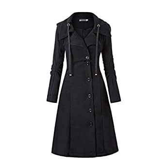 Amazon.com: Abrigo largo de invierno para mujer, color negro ...