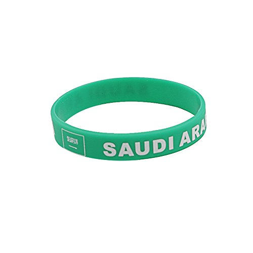 IDL Soccer Bracelet Silicone,Wroldcup Football Bands Custom Embossed Saying USA&National Flag,Perfect for Fitness, Basketball, CrossFit, Sports & Task (SAUDI ARABIA)