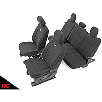 CarsCover Custom Fit 2009-2014 Ford F150 F250 F350 Pickup Truck Black Neoprene Car Front Center Jump Seat Cover and Console Covers
