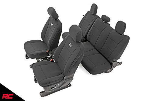 Rough Country 91018 Neoprene Seat Covers Black Front/Rear (fits) 2015-2020