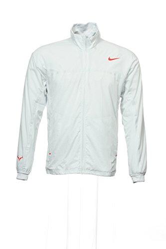 NIKE Premier Rafa Men's Tennis Jacket, Grey/Red, M