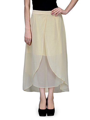 NATTY INDIA Fone Solid Mid Calf Length Women's Skirt