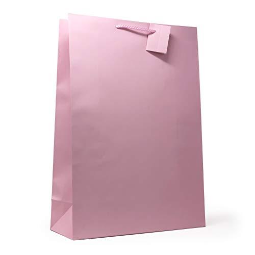 Allgala 12PK Value Premium Solid Color Paper Gift Bags (17