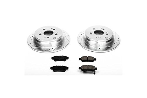 Power Stop K4604 Rear Z23 Evolution Brake Kit with Drilled/Slotted Rotors and Ceramic Brake Pads ()