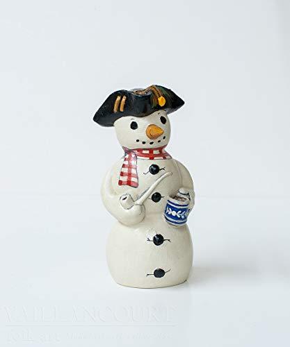Vaillancourt Folk Art Snowman with Hot Chocolate -