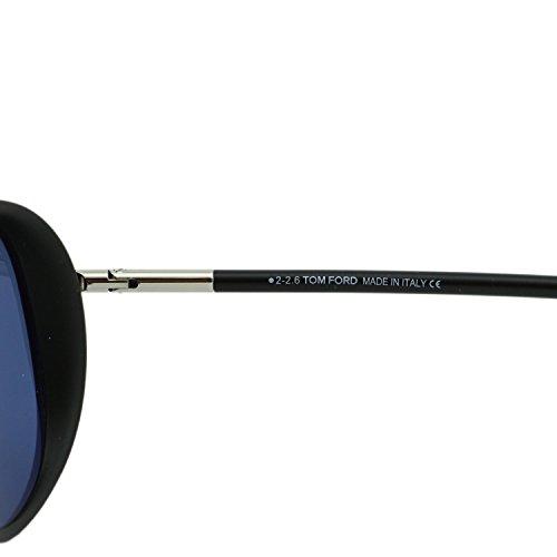 Tom Ford Sunglasses 0509 Cedric 02V Matt Black Blue