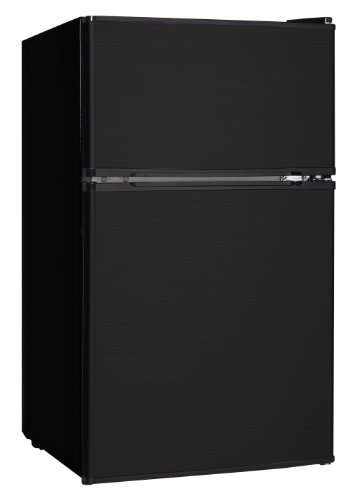 Midea WHD-113FB1 Compact Reversible Double Door Refrigerator and Freezer, 3.1 Cubic Feet, Black by MIDEA