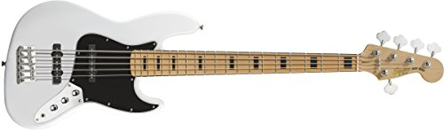 Squier by Fender Vintage Modified Jazz Bass V, Olympic White