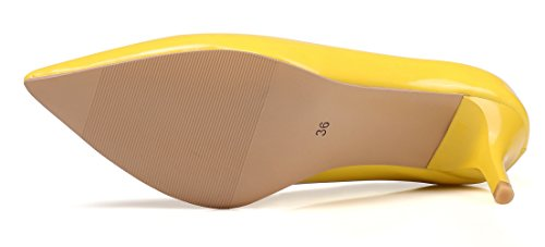 Mujer Vestir de Yellow KingRover Zapatos Charol para de 6cm fTq1Axaw