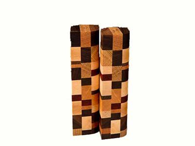 Wisconsinmade Wood Salt and Pepper Shakers - Mosaic Design