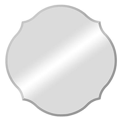 - Patton Wall Decor 20 Inch Frameless Beveled Scalloped Wall Mirror, Silver