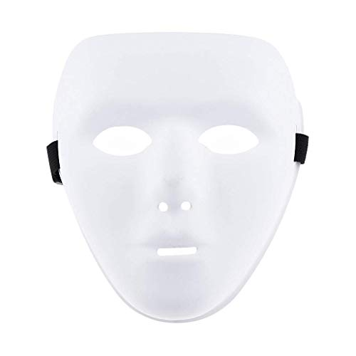 Halloween Mask Jabbawockeez Masquerade Costumes Party Mask for Halloween Party Supply - White]()