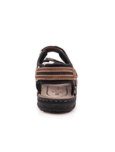 Zerimar Sandales en Cuir Pour Hommes Sandales de Trekking Chaussures de Randonnée Couleur Moka Taille 40