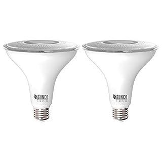Sunco Lighting 2 Pack PAR38 LED Bulb 13W=100W, 5000K Daylight, 1050 LM, Dimmable Flood Light, Indoor/Outdoor, Accent, Highlight - UL & Energy Star Listed