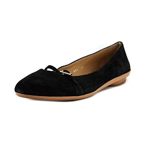 Salvatore-Ferragamo-Audrey-New-Women-Round-Toe-Suede-Black-Flats