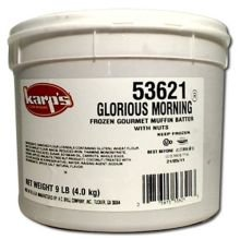 Baker and Baker Karps Scoop N Bake Glorious Morning Muffin Batter, 9 Pound -- 2 per case.
