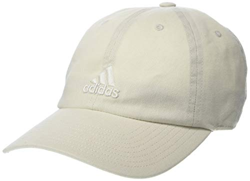 (adidas Women's Saturday Relaxed Adjustable Cap, Raw White, One Size)