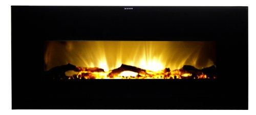 Warm House VWWF-10306 Valencia Widescreen Wall-Mounted Electric Fireplace with Remote Control