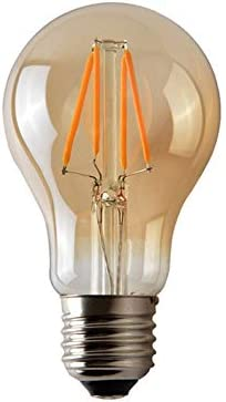 Reemplazo Incandescente de 60W 2 x LED Vintage Bombillas E27 No Regulable Blanco C/álido 2700K 230V Bombilla Filamento LED de 6W