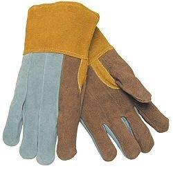 (12 Pairs) Memphis 4550 Leather Split Clute Pattern Welder Gloves w/Kevlar Sz XL by Memphis Gloves Palm Clute Pattern