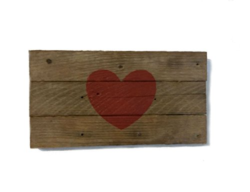 5-x-9-inch-small-primitive-rustic-hand-painted-red-heart-sign-on-reclaimed-barn-wood-for-wall-hangin