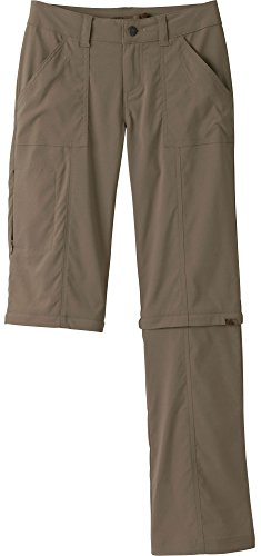 prAna Living Women's Tall Inseam Monarch Convertible Pant, Dark Khaki, 4