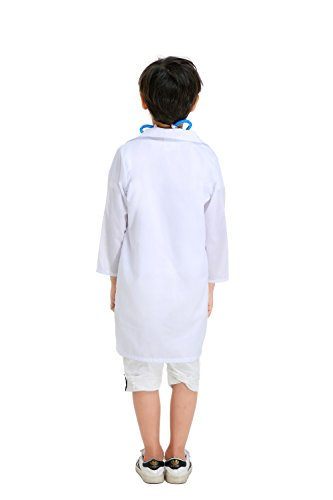 YOLSUN Lab Coat Role Play Costume Set for Kids, Boys' and Girls' Lab Dress up and Play Set (4-5Y, White) by YOLSUN (Image #2)'
