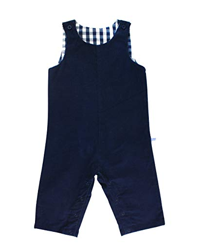 (RuggedButts Baby/Toddler Boys Navy Corduroy Longalls - 3-6m)