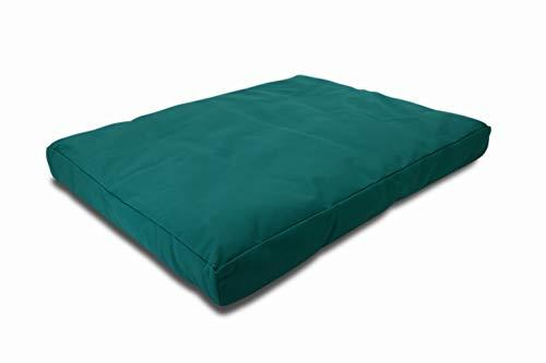 Bean Products Emerald - Zabuton Meditation Cushion & Cover - Large Size - 32 x 26 x 3 - Yoga - 100% Cotton - Made in USA